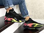 Мужские кроссовки Adidas Streetball (черно-оранжевые), фото 4
