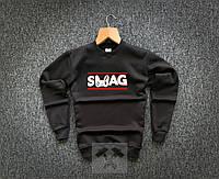 Свитшот теплый мужской черный Swag