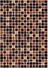 400х275 Керамическая плитка стена Гламур 3Т коричневый
