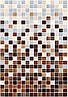 400х275 Керамическая плитка стена Гламур 3С коричневый