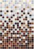 400х275 Керамічна плитка стіна Гламур 3С коричневий