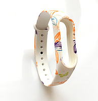 Ремешок с принтами для фитнес-браслета Xiaomi Mi Band M2 Morning Glory