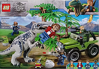Конструктор 82161 Нападение Тираннозавра. Мир Юрского периода (аналог Lego Jurassic World) лего Тирекс