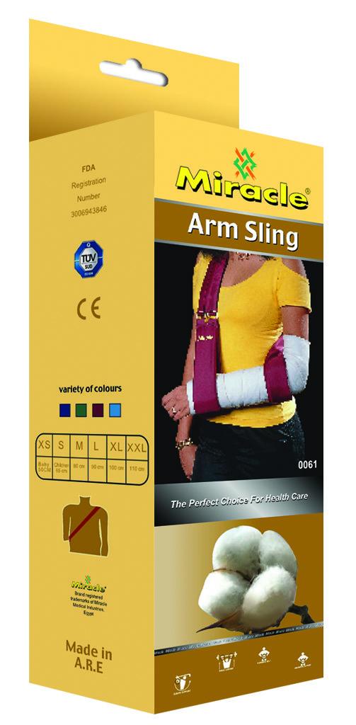 Поддерживатель руки ремень, косынка, мягкий Miracle код 0061