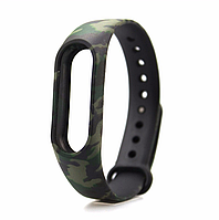 Ремешок с принтами для фитнес-браслета Xiaomi Mi Band M2 Green Camouflage