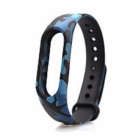 Ремешок с принтами для фитнес-браслета Xiaomi Mi Band M2 Blue Camouflage