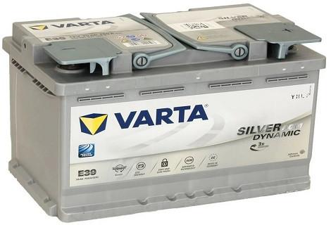 Аккумулятор VARTA 6СТ 70 Silver Dynamic AGM (E39)