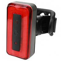 Фонарь велосипедный Velotrade габаритный задний (ободок) BC-TL5474 красный LED, USB (LTSS-024)
