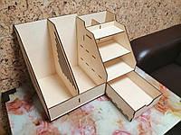 Стильный настольный деревянный органайзер для бумаг и папок