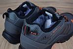 Мужские зимние кроссовки Adidas Climaproof (серо-оранжевые), фото 6