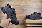 Мужские зимние кроссовки Adidas Climaproof (серо-оранжевые), фото 7