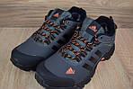 Мужские зимние кроссовки Adidas Climaproof (серо-оранжевые), фото 8