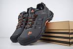 Мужские зимние кроссовки Adidas Climaproof (серо-оранжевые), фото 9