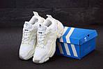 Женские кроссовки Adidas Magmur (бело-бежевые), фото 2