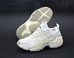 Женские кроссовки Adidas Magmur (бело-бежевые), фото 4