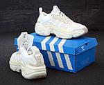 Женские кроссовки Adidas Magmur (бело-бежевые), фото 6