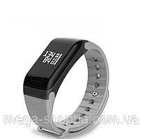 Фитнес браслет трекер F1 с тонометром, умные смарт часы женские мужские Серые. Розумний смарт-годинник