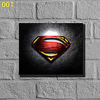 "Фотокартины на холсте ""Супермен"" 50х40см"