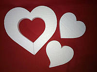Сердце из пенопласта 10см. Заготовка для творчества на День Валентина, 14 февраля, День влюбленных