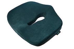 Ортопедическая подушка для сидения - Max Comfort, ТМ Correct Shape. Подушка от геморроя, простатита, подагры изумрудный
