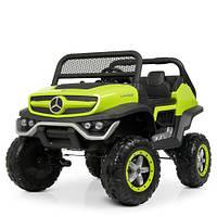 Детский электромобиль Джип M 4133 EBLR-5, Mercedes Benz, 4WD, зеленый