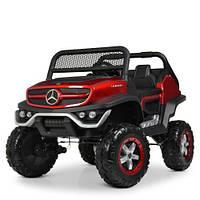 Детский электромобиль Джип M 4133 EBLRS-3, Mercedes Benz, 4WD, автопокраска, красный