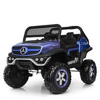 Детский электромобиль Джип M 4133 EBLRS-4, Mercedes Benz, 4WD, автопокраска, синий