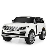 Детский двухместный электромобиль Land Rover M 4175 EBLR-1, белый