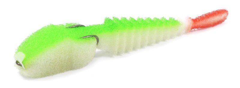 Поролоновая рыбка под крючок-двойник Levsha NN 3D Ex Stream Fluo 10см (5шт/уп)