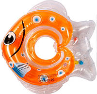 Круг для купания младенцев Рыбка оранжевый