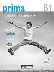 Prima Deutsch fur Jugendliche 5 Testheft mit Audio-CD