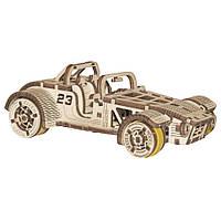 Механический 3D пазл Roadster WOODEN.CITY, фото 1