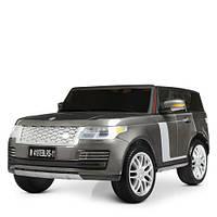 Детский двухместный электромобиль Land Rover M 4197 EBLR-11, серый