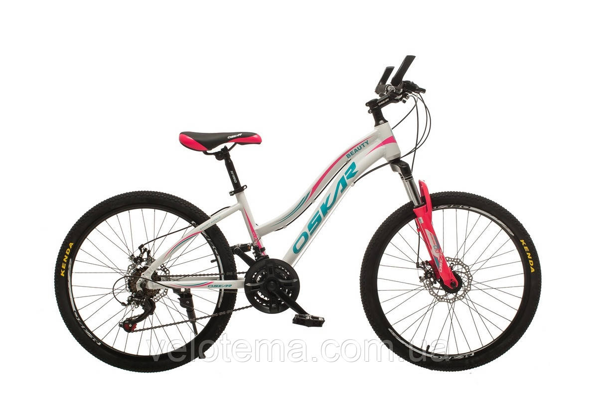 """Велосипед Oskar 24""""BEAUTY белый подростковый"""