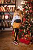 Детский костюм с кофточкой на молнии и штанишками Оранжевый, фото 3