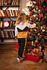 Детский костюм с кофточкой на молнии и штанишками Оранжевый, фото 4