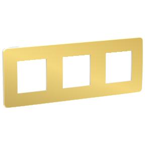 Schneider Рамка 3-пост, Золото/білий