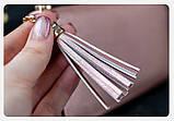 Гаманець шкіряний жіночий клатч Foxer в подарунковій коробці (рожевий), фото 6