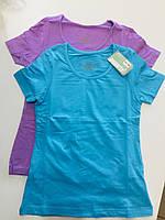 Комплект футболок 2  Pepperts 1193 128 голубой фиолетовый
