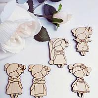 Куколки. Заготовка для броши из фанеры 3 мм, заготовка из дерева