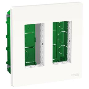 Schneider Блок unica system+ прих.вст. 2х2 белый