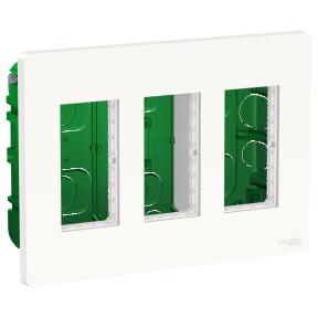 Schneider Блок unica system+ прих.вст. 3х2 білий
