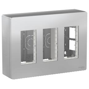 Schneider Блок unica system+ откр.вст. 3х2 алюм.