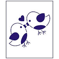 Трафарет Влюбленые птички 9*10 см (TR-1)