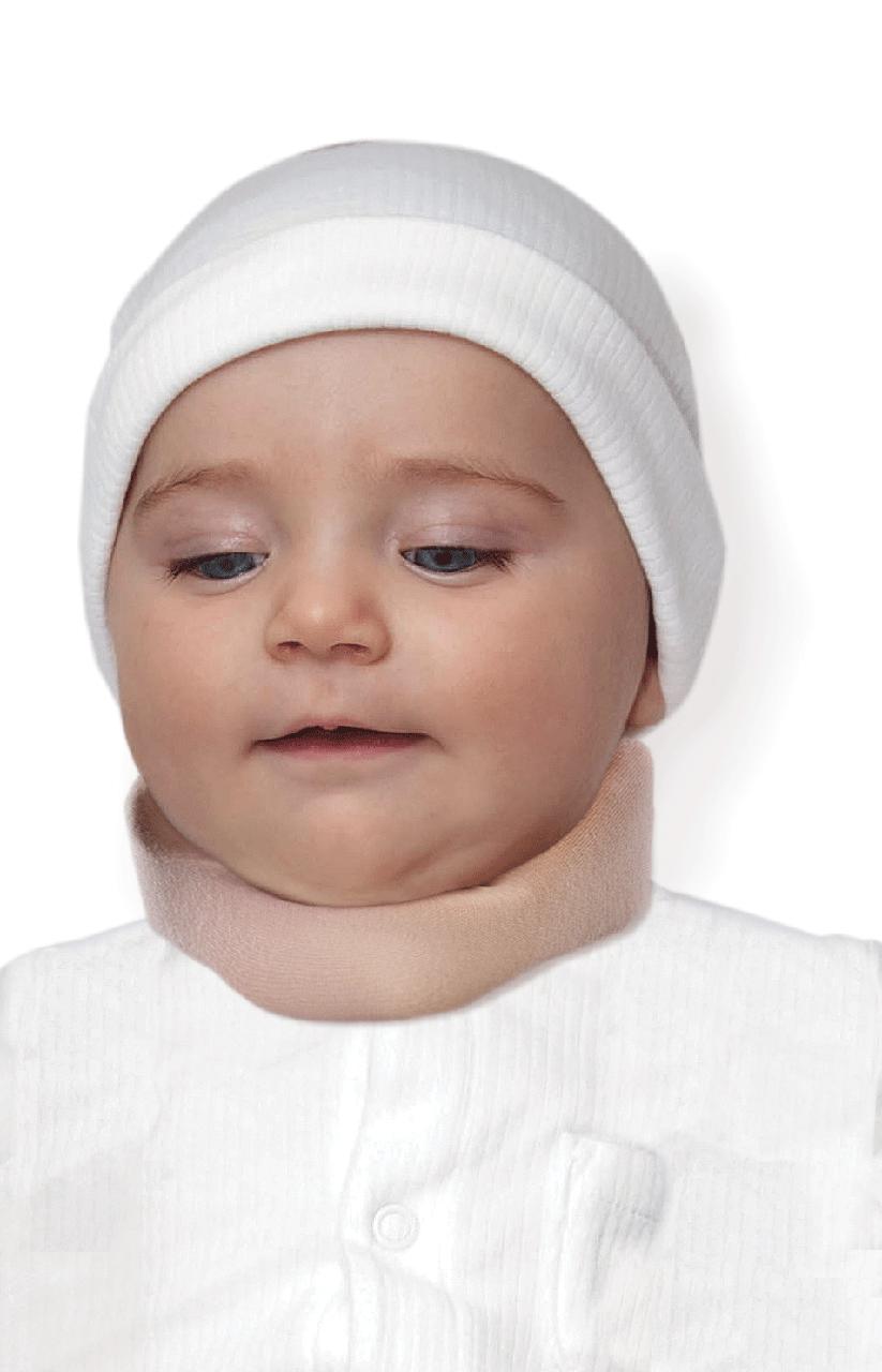 Бандаж для шеи шейных позвонков для младенцев (3-6 месяцев) ( воротник шанца ) , тип 710 бежевый детский