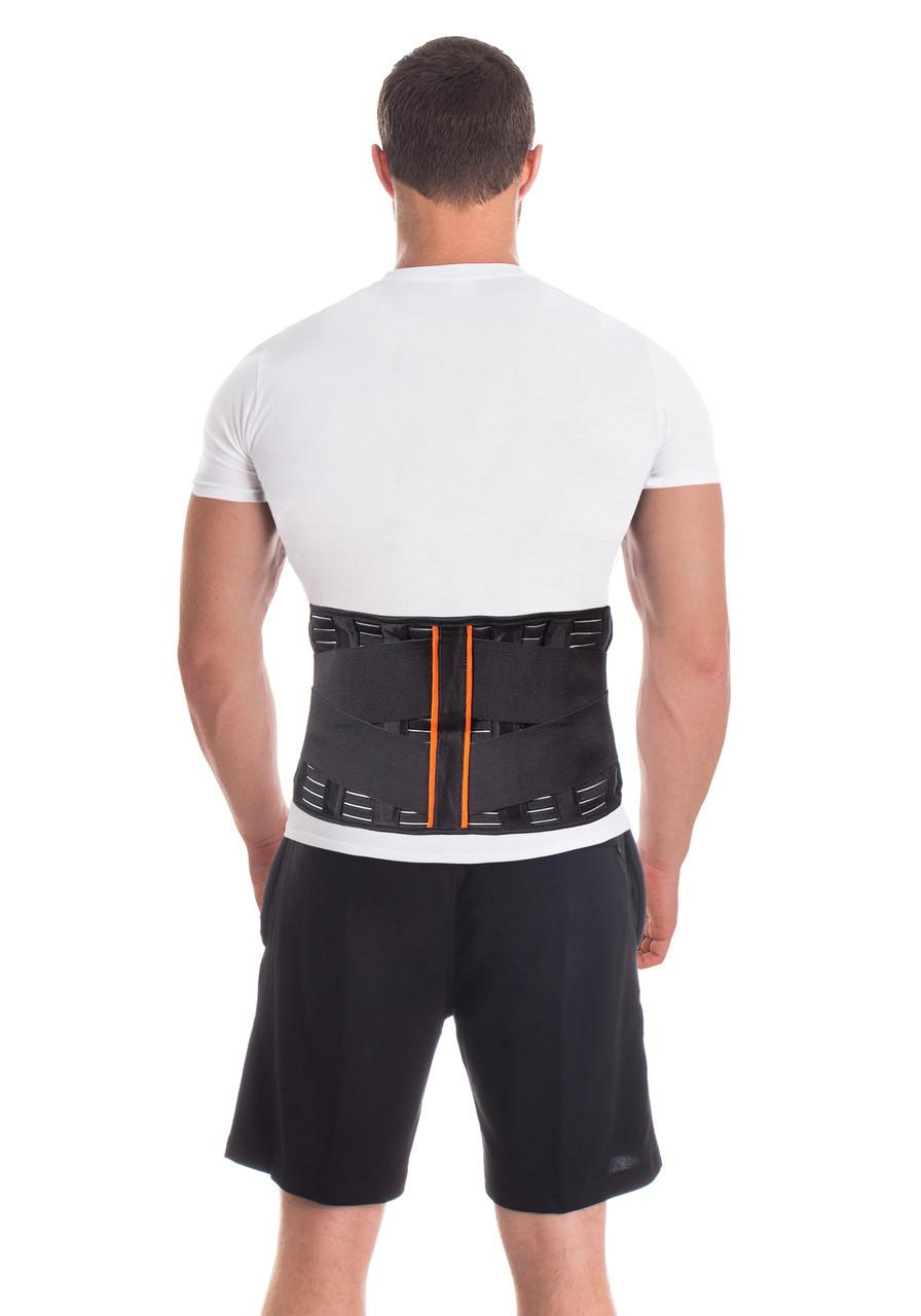Бандаж поддерживающий для спины и поясницы / 4 ребра, высота - 24 см / Тип 212