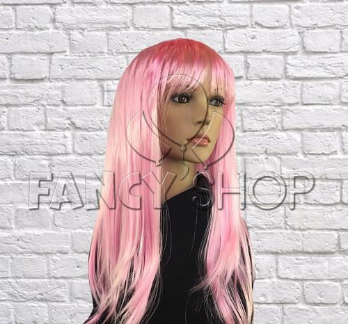 Перука пряме волосся, світло рожевий, Парик прямые волосы