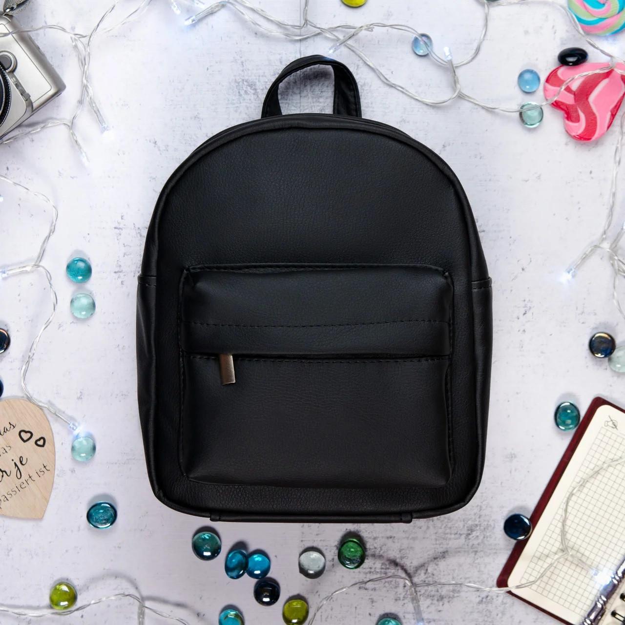 Женский рюкзак городской Sambag черный разные размеры 11111001