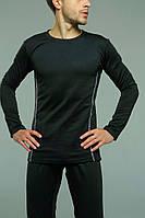 Термокомплект мужского нательного белья Asos черное с белыми полосками