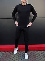 Комплект мужского нательного белья Pobedov Underwear черный - размер L